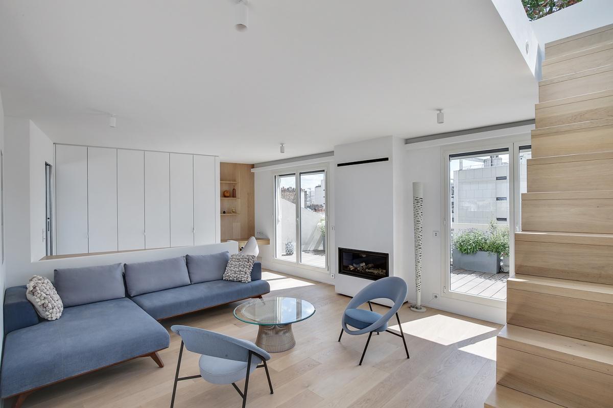 Réaménagement d'un appartement à Paris et création d'un rooftop : réaménagement architecte