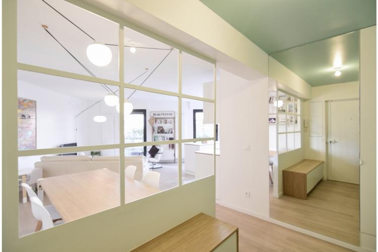 GALLIENI : architecte-renovation-entree-grand-miroir-AREA-Studio