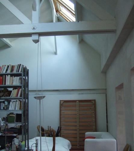 Création d'un espace privé dans un loft : avant travaux