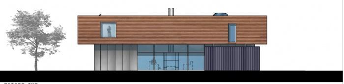 Maison en ossature métallique : façade sud