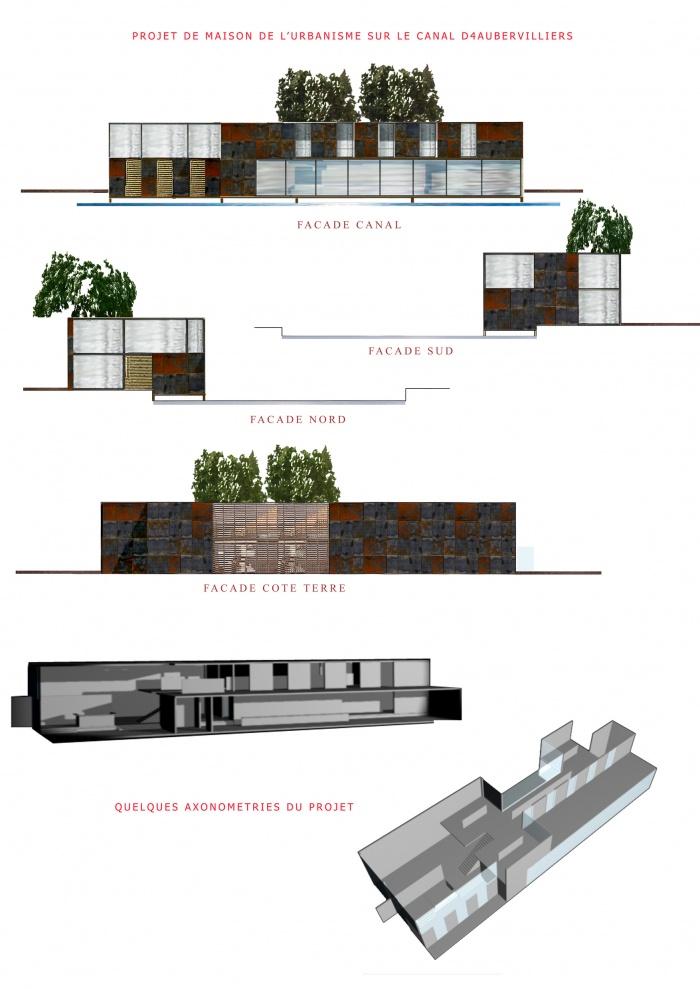 Maison de l'urbanisme : plans et elevations