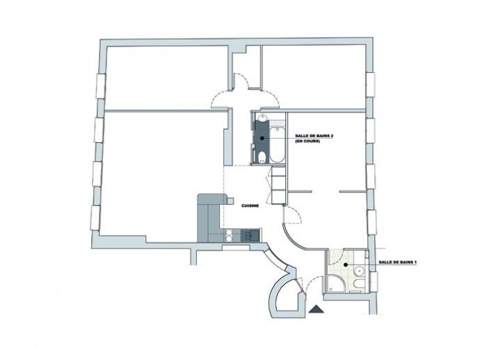 Appartement Rue Saint-Lazare : Implantation de l'appartement