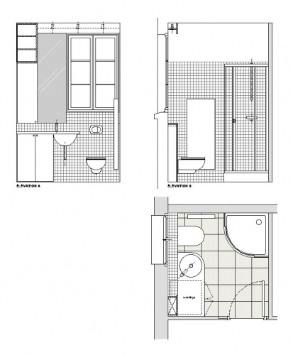 Appartement Rue Saint-Lazare : Plan de salle de bain
