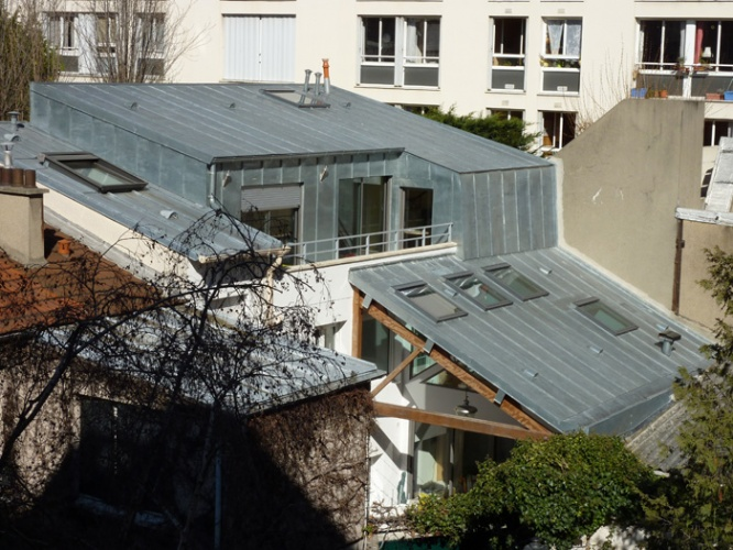 Surélévation en zinc Paris 20eme : PER 2.JPG