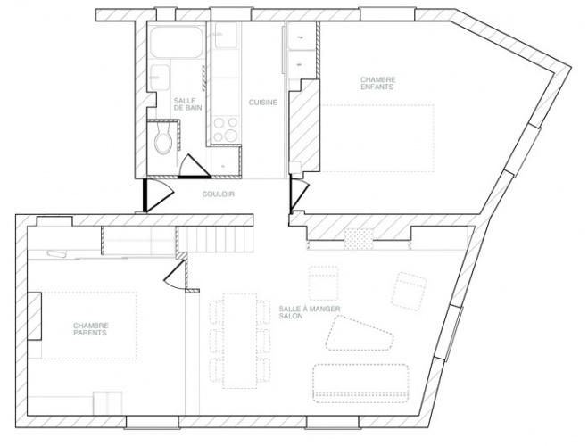 Rénovation et réorganisation d'un appartement classique : notre proposition