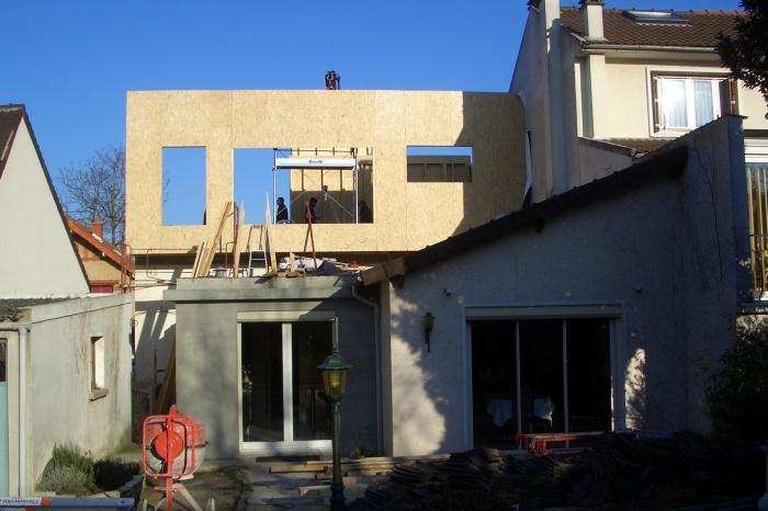 SURELEVATION D'UNE MAISON DE VILLE : antony chantier 1