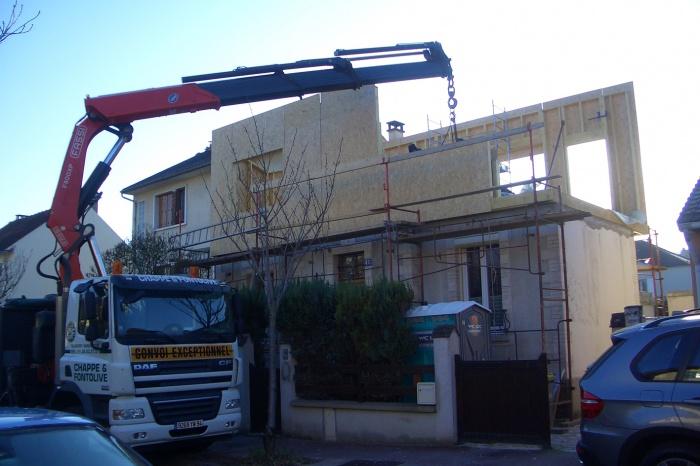 SURELEVATION D'UNE MAISON DE VILLE : antony chantier 2