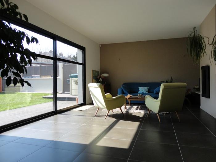 Extension et restructuration d'une maison de ville, Bois Colombes : 4-Bois Colombes-salon 1
