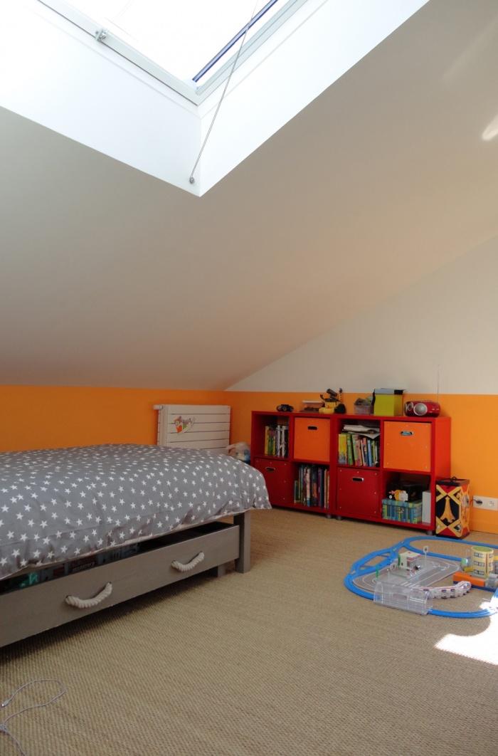 Extension et restructuration d'une maison de ville, Bois Colombes : 10-Bois Colombes-chambre orange