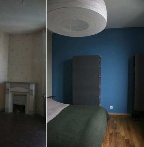 Rénovation complète d'une maison individuelle : Chambre des parents /1°étage