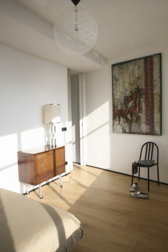Loft Paris 19° : chambre d'amis