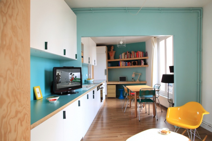 Aménagement d'un appartement de 55m2 pour 4 personnes