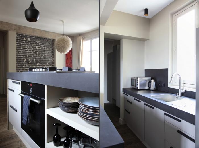 Aménagement intérieur d'un appartement d'esprit loft New-Yorkais : AT5