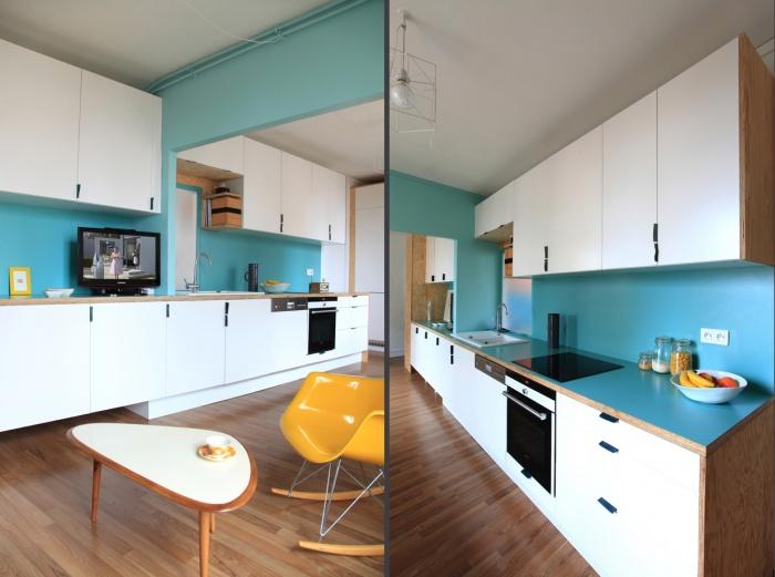 Aménagement d'un appartement de 55m2 pour 4 personnes : EetP2et3