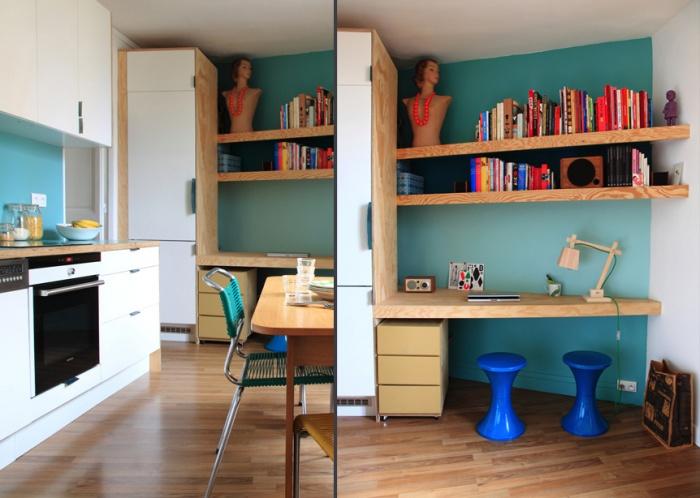 Aménagement d'un appartement de 55m2 pour 4 personnes : EetP7et8