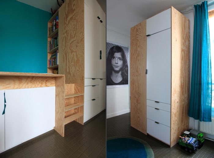 Aménagement d'un appartement de 55m2 pour 4 personnes : EetP11et12
