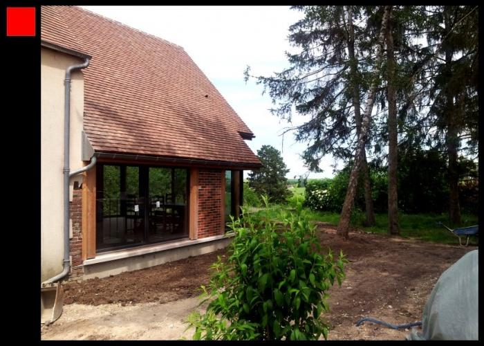 Extension Bois d'une maison traditionnelle : o