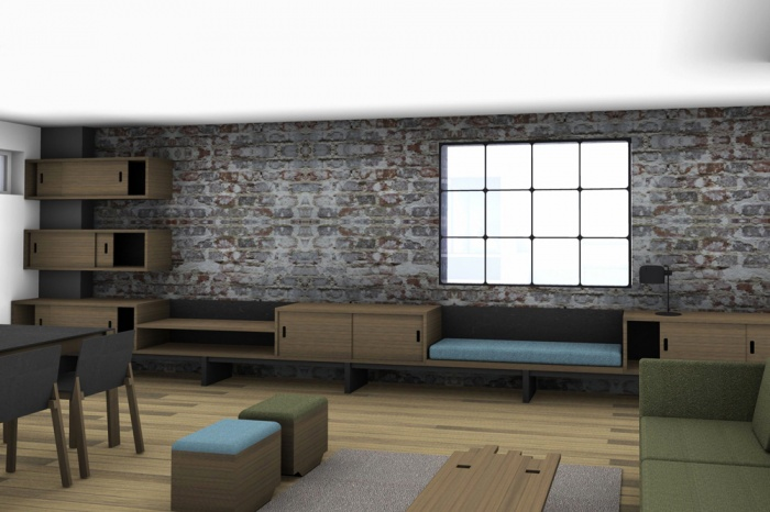 Renovation d'un loft sous les toits : Living3D