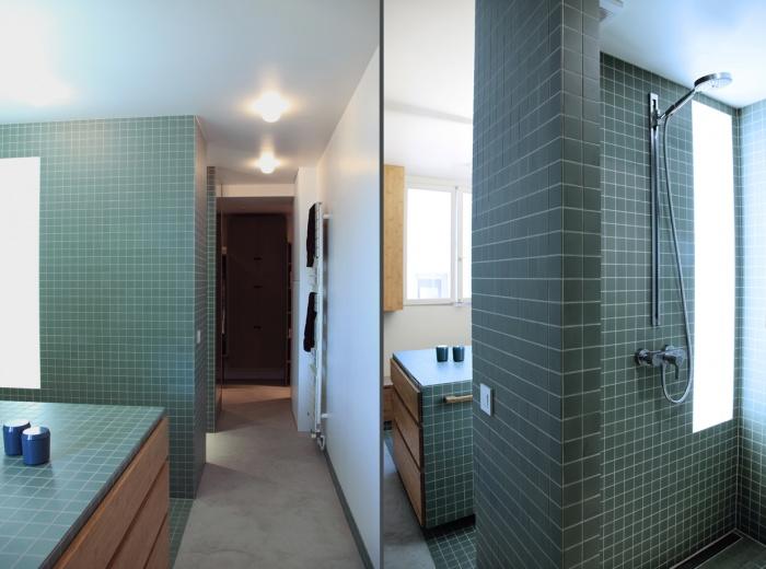 Renovation d'un loft sous les toits : Salle d'eau 5/4