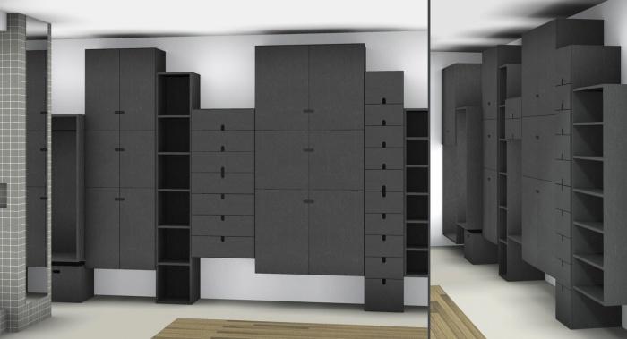Renovation d'un loft sous les toits : dressign 3D