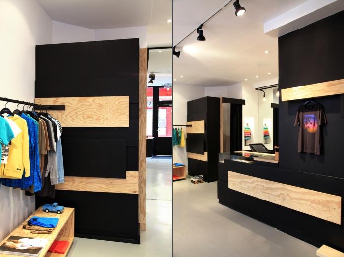 Aménagement intérieur d'une boutique de mode : shop4et5