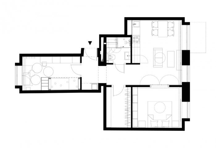 Appartement à Varsovie : Plan du projet