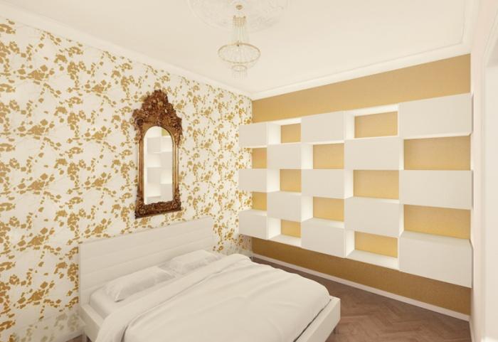 Appartement à Varsovie : Chambre 01 3D