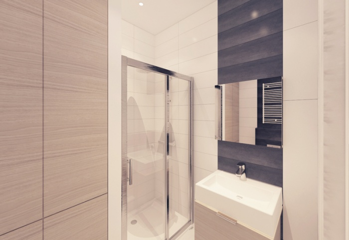 Appartement à Varsovie : Salle de bains 3D