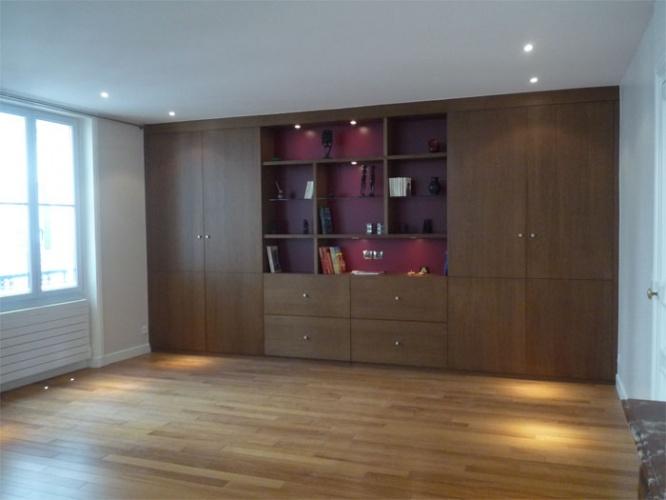 Rénovation d'un appartement rue du Faubourg Saint Honoré : Séjour après travaux - vue2
