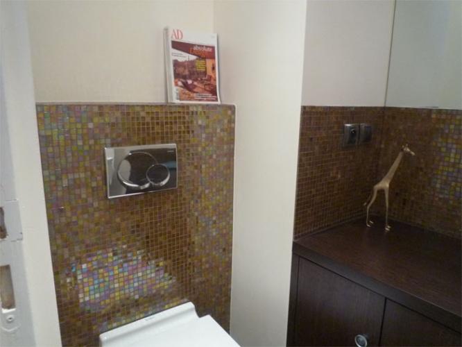 Rénovation d'un appartement rue du Faubourg Saint Honoré : WC après travaux