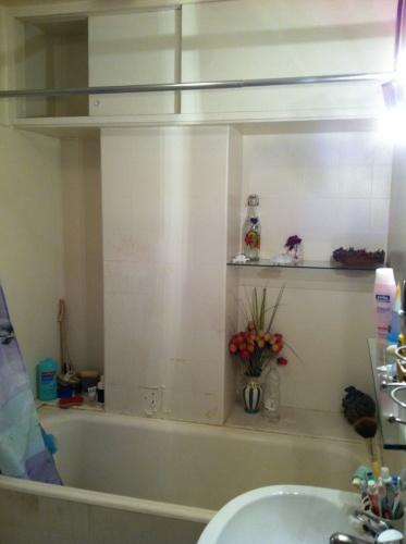 Rénovation et aménagement d'un appartement Wagram : Sdb avant