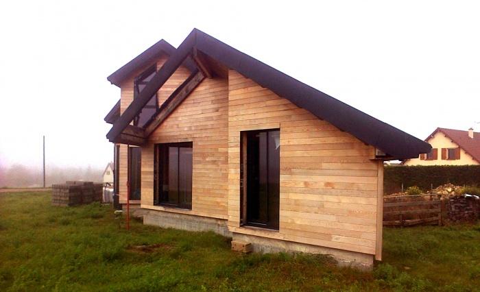 Maison BBC en cours de réalisation dans la Nièvre : architecte maison bois 3