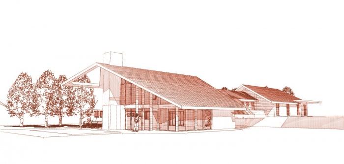 Maison ossature bois en Charente Maritime : maison contemporaine perspective sud-ouest