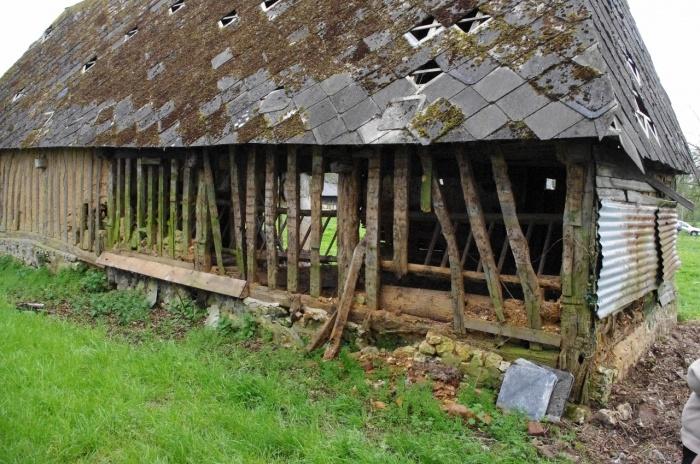 Transformation d'un batiment agricole en habitation : Batiment existant